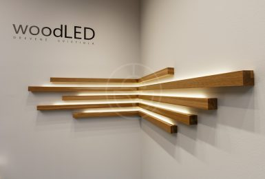 New wooden ceiling lamps woodLED SQUARE. Available in three sizes 600×600, 900×900, 1200×1200mm. LED light source with efficiency up to 165lm/W.