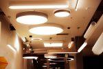 Trilum wooden LED lamps - showroom Bratislava