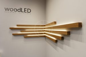 Wood light concept - lighting lines by Trilum brand