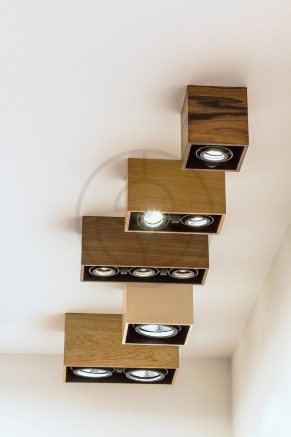 Trilum woodLED interior wooden LED spot lamps series - all kind detail