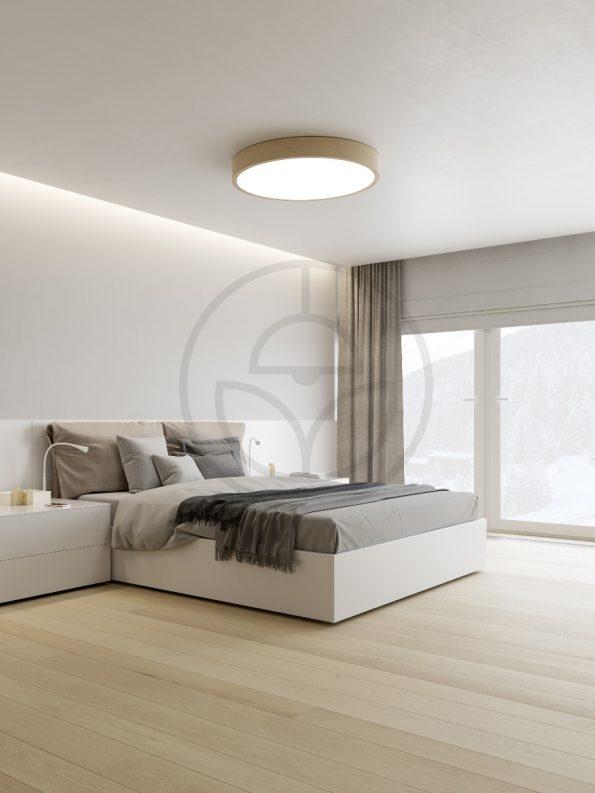 Trilum woodLED ROUND 900 - bedroom illumination interior design