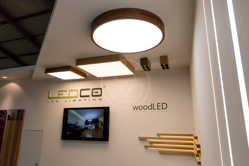 Luxury interior LED lamps made of wood