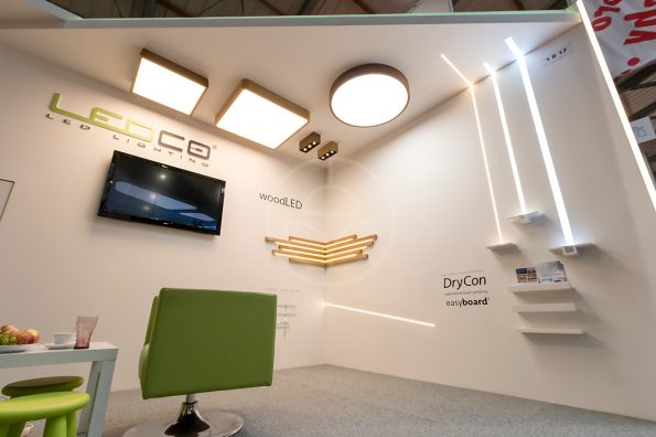 Slovak brand Trilum with wooden lamps in the Czech Republic at an exhibition of architecture and design ForArch 2015 Prague. Luxury interior LED lamps.