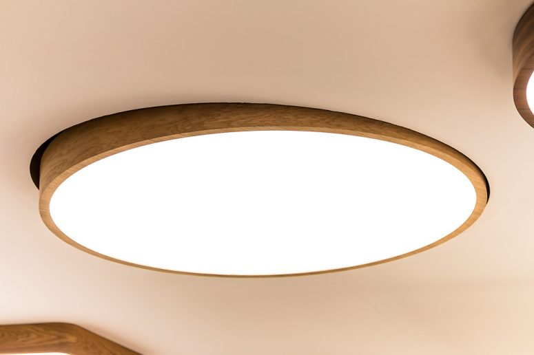 Trilum's Wood LED Tilt with recessed mountig and 1200mm diameter at Light & Building 2016