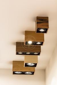 Hranaté bodové drevené svietidlá s povrchovou montážou na Nábytok a bývanie 2016