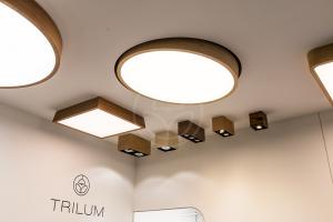 Produkty slovenskej značky Trilum - drevené svietidlá na Nábytok a bývanie 2016