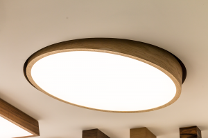Trilum WoodLED Round Tilt - kruhové drevené svietidlo na Nábytok a bývanie 2016