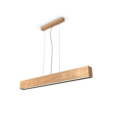 WoodLED LINUS hang 1100 - an exclusive pendant linear wooden lamp with built-in LED technology.