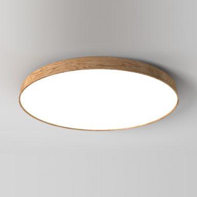 Kruhové drevené svietidlo WoodLED Soft1200