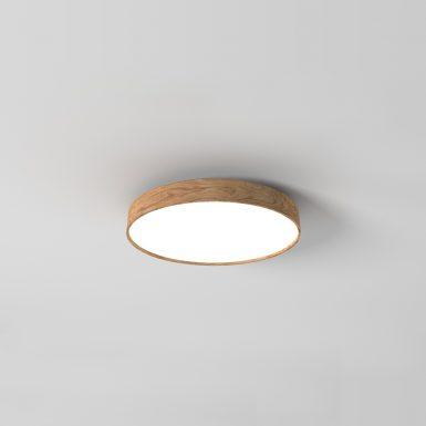 Kruhové drevené svietidlo WoodLED Soft600