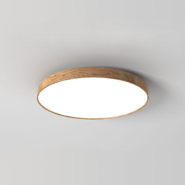 Kruhové drevené svietidlo WoodLED Soft900