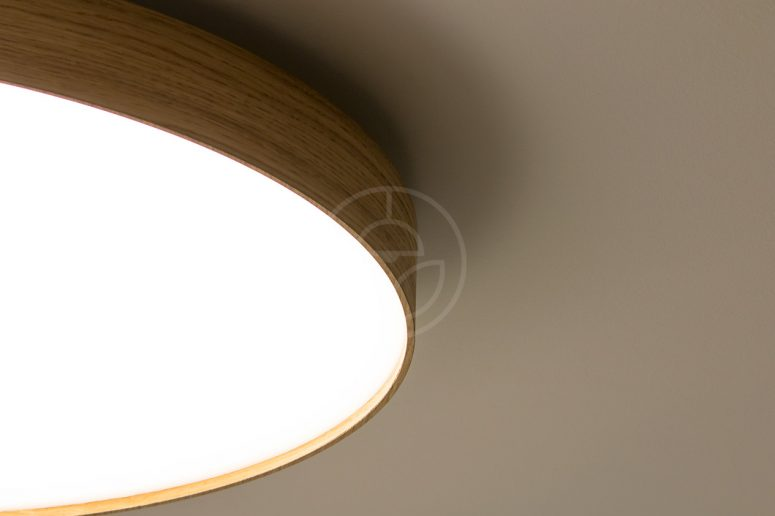 Soft is our new series of sleek and stylish wooden ceiling lamps kruhov dreven svietidlo woodled soft900 detail na dubov telo lampy aloadofball Image collections