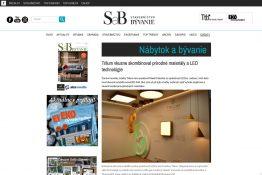 """Webový portál časopisu """"Stavebníctvo a bývanie"""" napísal malú recenziu o našej výstavnej expozícii drevených svietidiel Trilum na výstave"""