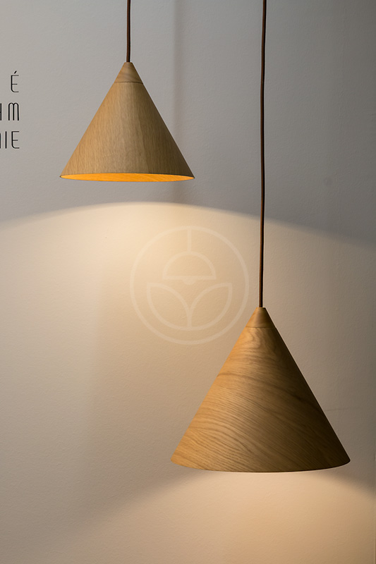 WoodLED SAPITO is a minimalist hanging lamp in form of hat or cap.