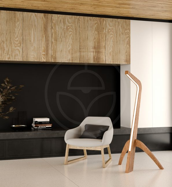 woodLED SLEDGE - exclusive floor LED wooden lamp