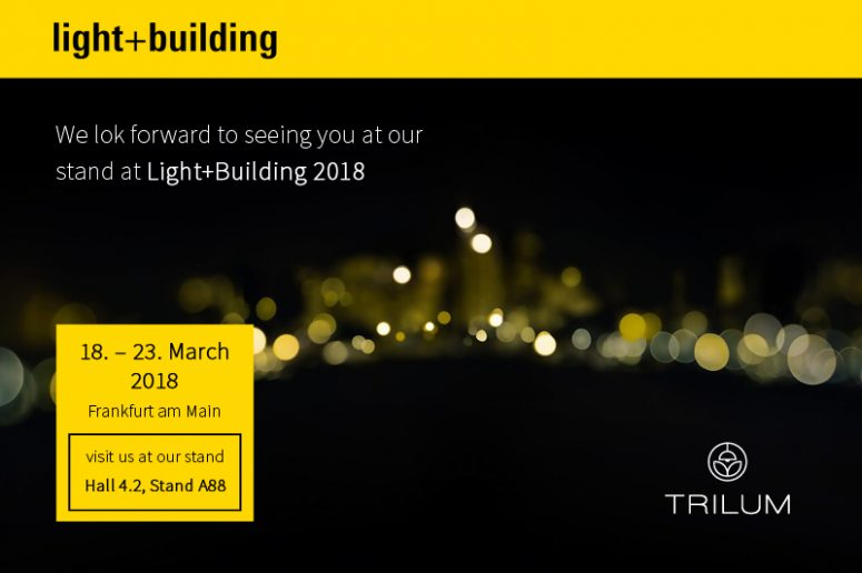 Visit us at the exhibition Light+Building 2018 at Frankfurt am Main an see the wooden lamps live.