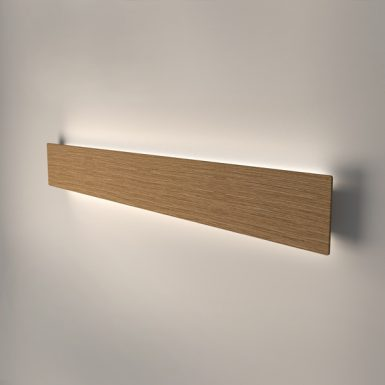 Wooden LED wall light Liiny 1280. Oak solid wood with 3000K warm white LED modules included.