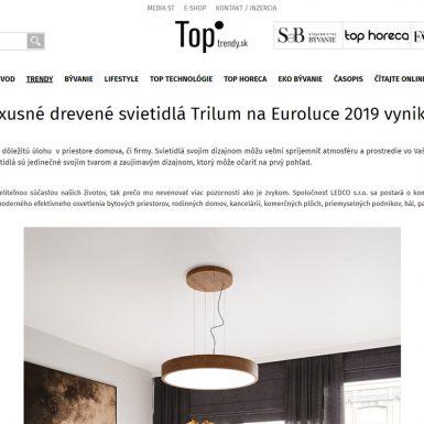 TopTrendy.sk si nás všimli na výstave Euroluce 2019 v Miláne