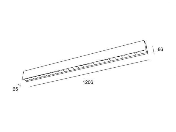 Drevené svietidlo woodLED LINX 1200
