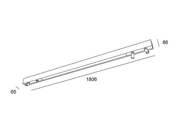 Drevené svietidlo woodLED Linx 1800
